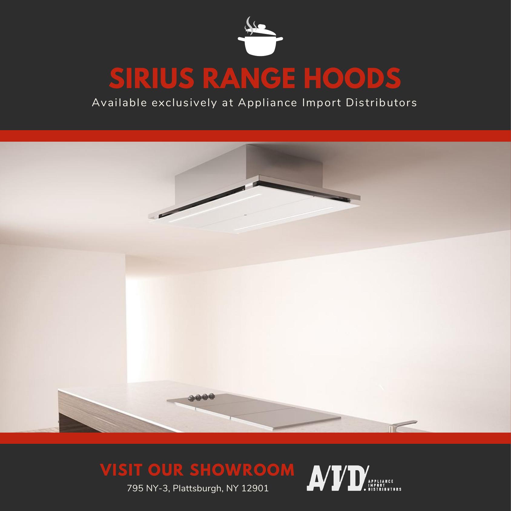 Sirius Rangehoods Are Designed By Award Winning Engineers That