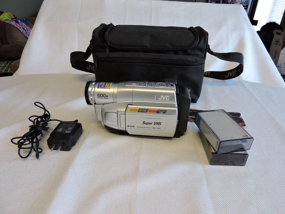 Jvc Gr Sxm750um 600x Digital Zoom Vhs Camcorder Camera With Accessories Jvc Digital Zoom Camcorder Camera