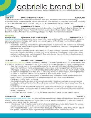Creative Advertising Resume  Creative Marketing Resume  Resume