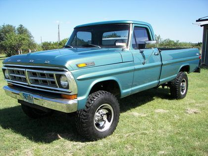 Original Classic Ford Truck Photos 1971 Ford F250 Ford Trucks