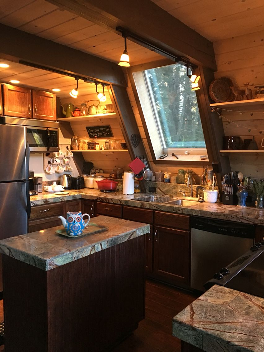 Cabin Kitchen Cabin Kitchens A Frame House Cabin Interiors