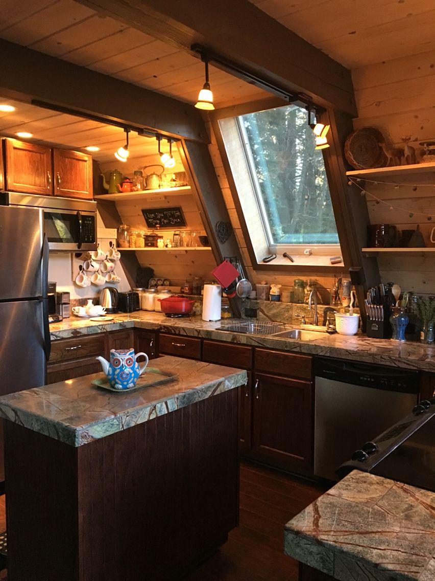 cabin kitchen a frame house cabin kitchens cabin interiors on kitchen id=94097