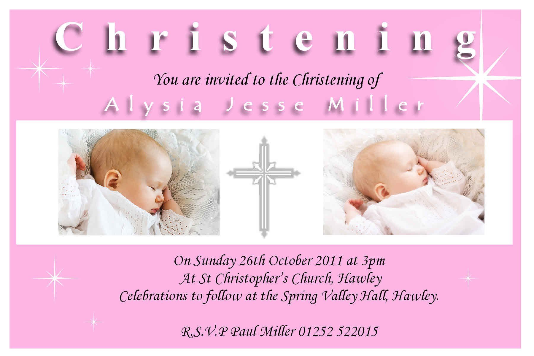 baptism invitations baptism invitation template Invitations