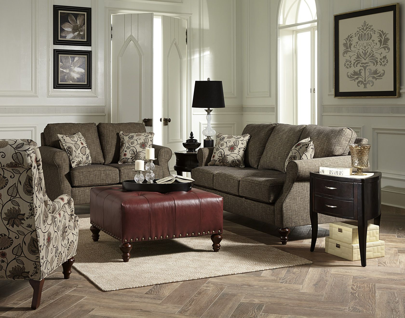 England Furniture 1Z00 with Ophelia Tweed and Tulsa Classic