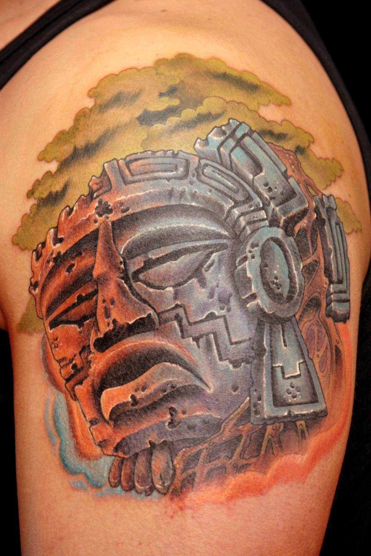 Aztec Temple Tattoo images for > mayan temple tattoo   temple tattoo