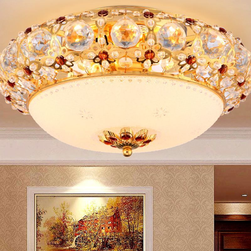 European Style Ceiling Lamps Crystal Warm Bedroom Living Room Hotel Romantic Light Home Lighting Ceiling Lights Za Fg467 Ceiling Lights Ceiling Lighting