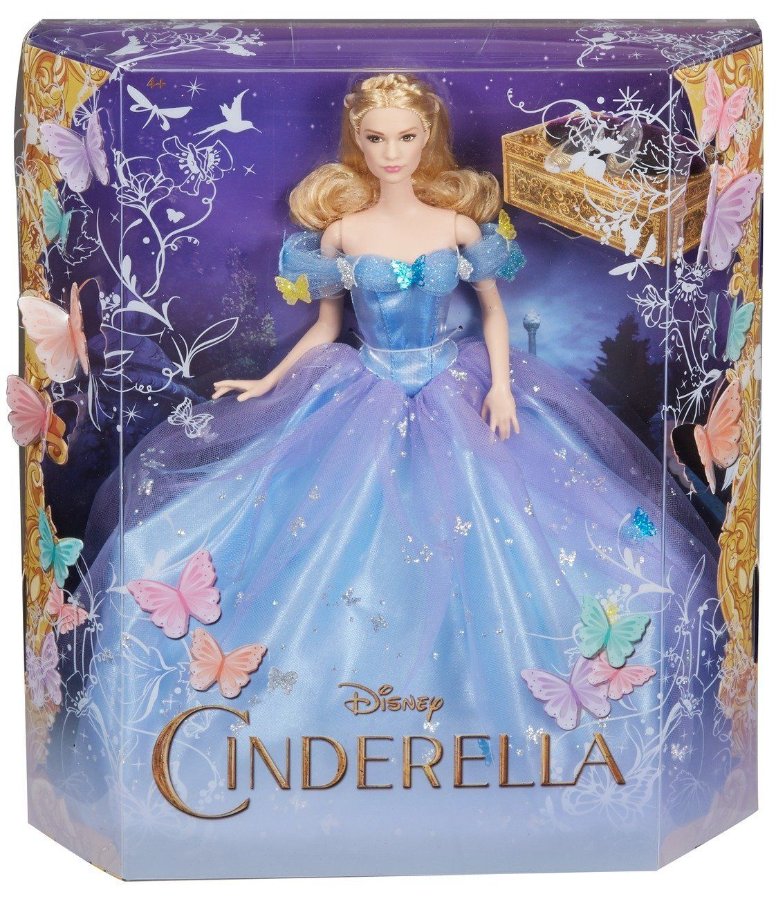 2014 Mattel ~ Disney Sparkling Princess Doll ~ Cinderella ~ NIB