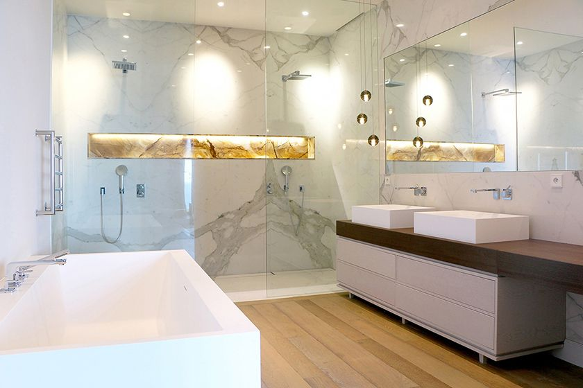 Bagno Parquet ~ Luxury bathroom made with marble and parquet bagno
