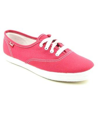 734c97a09a8 KEDS KEDS CHAMPION OXFORD CVO WOMEN ROUND TOE CANVAS RED SNEAKERS.  keds   shoes