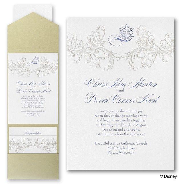 Golden Fairy Tale Disney Wedding Invitation With Images Disney