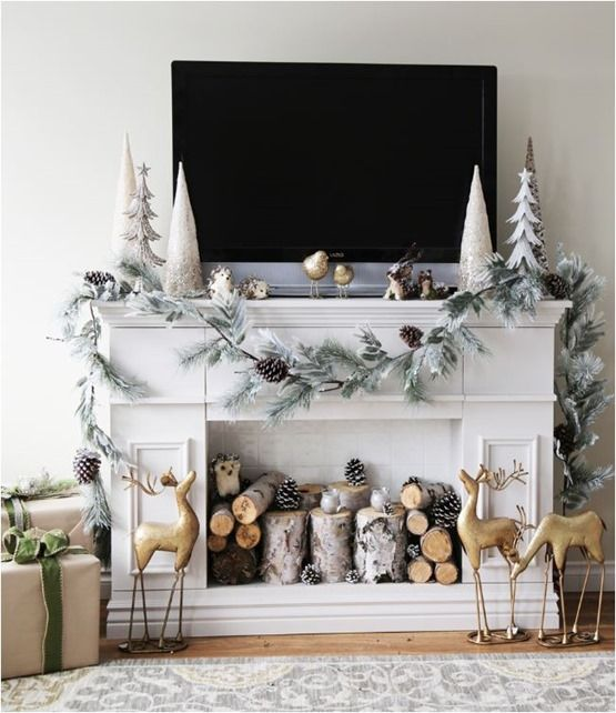 BOTB 11714 TVs, Mantle and Mantels - christmas decorations for mantels