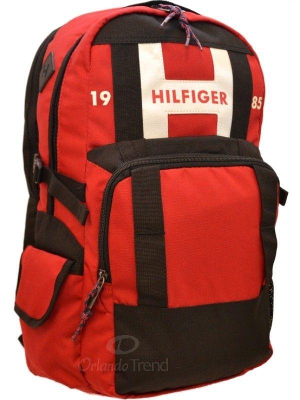 Tommy Hilfiger Backpack 17 Laptop Raider Black Red School Book Men Women Bag 17 Tommyhilfiger Backpack Orlandotrend Tommy Hilfiger Rucksack Schwarz