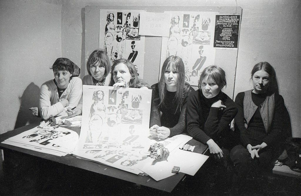 Kanonklubben, Artists: Lene and Marie Bille, Rikke Diemer, Kirsten Dufour, Kirsten Justesen, Jytte Keller, Jytte Rex and Birgitte Skjoldjensen., 1970, Statens Museum for Kunst