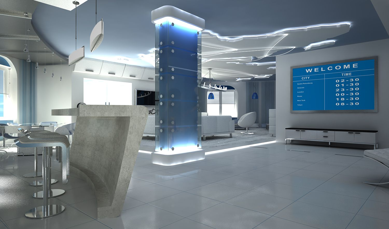 Fresh ideas futuristic rooms by white futuristic wallpaper for Futuristic house ideas