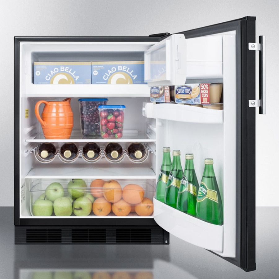 Ct663b Glass Shelves Mini Fridge With Freezer
