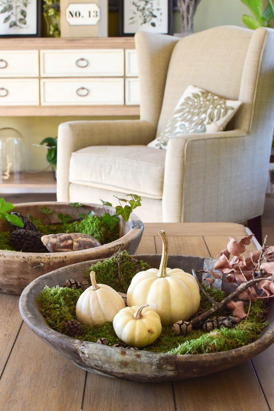 Wie ihr eine schale kreativ mit naturmaterialien dekoriert for Wohnung dekorieren winter