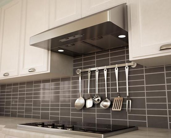 Under cabinet canopy range hood stainless steel white - Kitchen hood under cabinet ...