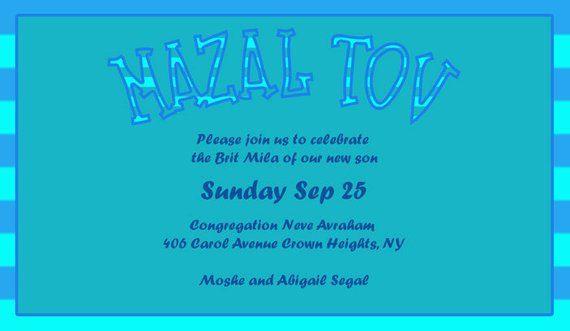 Printable Brit Bris Mila It S A Boy Invitation Baby Announcement