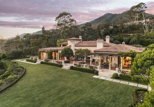 1590 E Mountain Drive Twilight Exterior Estate Homes Mansions Santa Barbara Real Estate