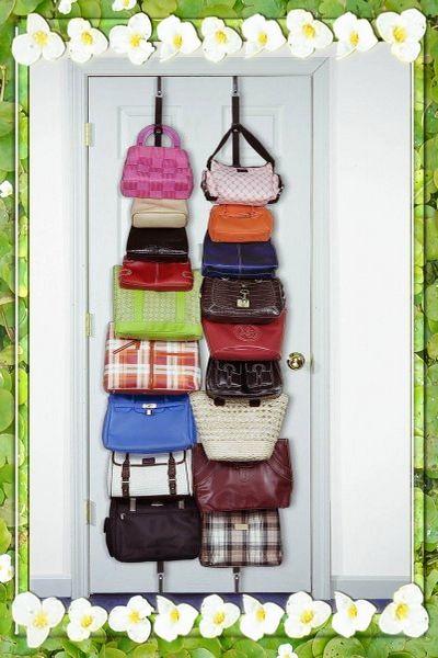 Como guardar u organizar los bolsos para ahorrar espacio ahorrando espacios pinterest - La casa de los bolsos ...