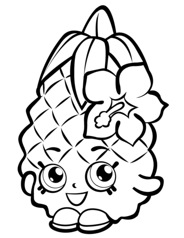 Pineapple Crush Shopkin Målarbok | coloring pages. | Pinterest ...