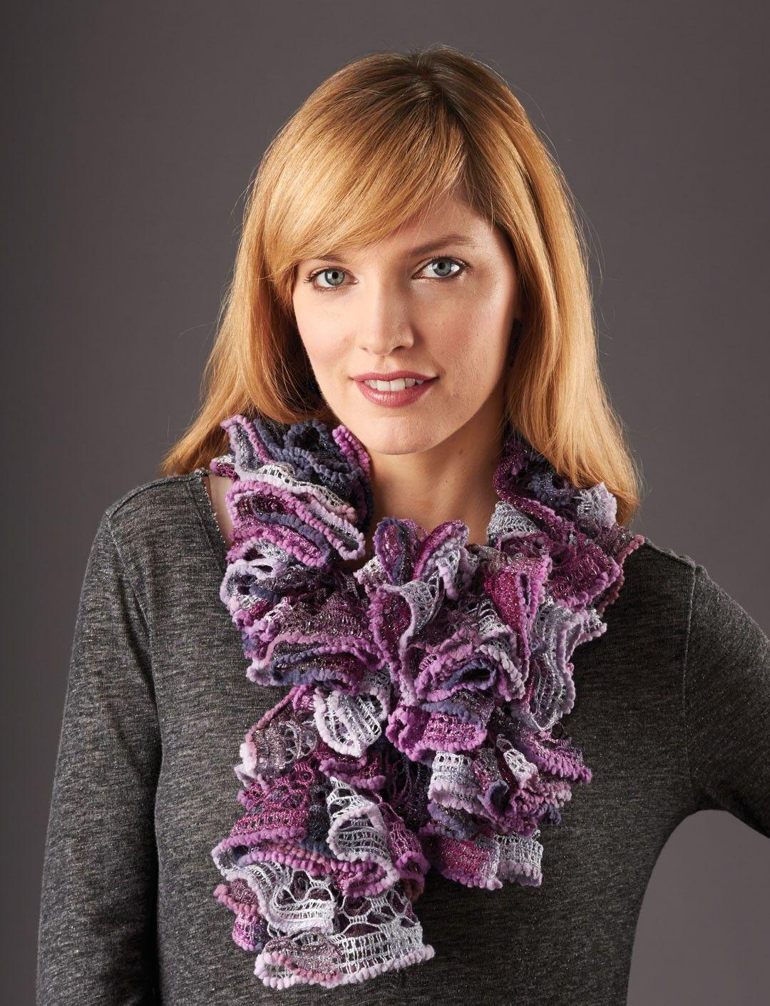 Yarnspirations.com - Patons Ruffle Crochet Scarf - Patterns ...