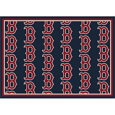 Boston Red Sox Repeat Logo Area Rug Rugs Area Rugs
