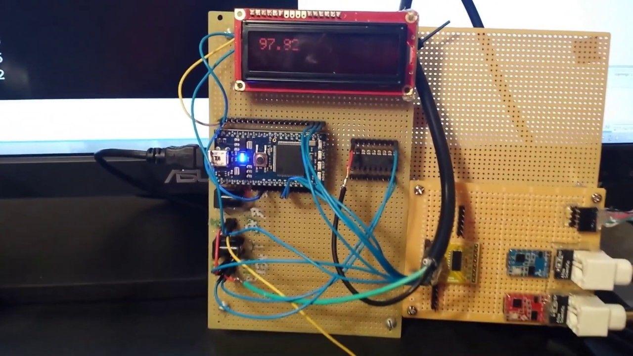 Pool Automation Prototype Board Measuring Temperature Prototype