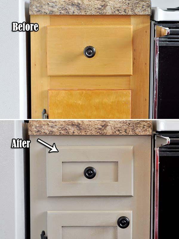Transformer une armoire de cuisine d su te en 2019 - Transformer une armoire en bureau ...