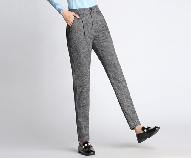 5166ede73e4a2 Autumn Women Paid Pant Slim Korean OL Office Work Wear Formal Pants Lady S-4XL  Plus Size work Trousers Gray