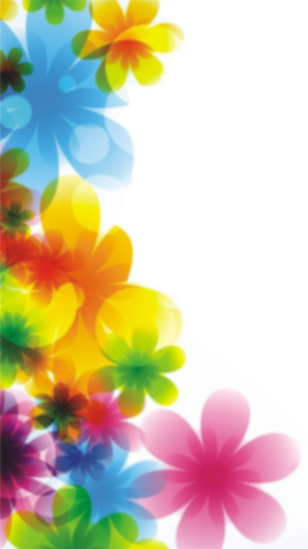 Free Colorful Flower Desktop Wallpaper: Colorful Floral Print IPhone Wallpaper