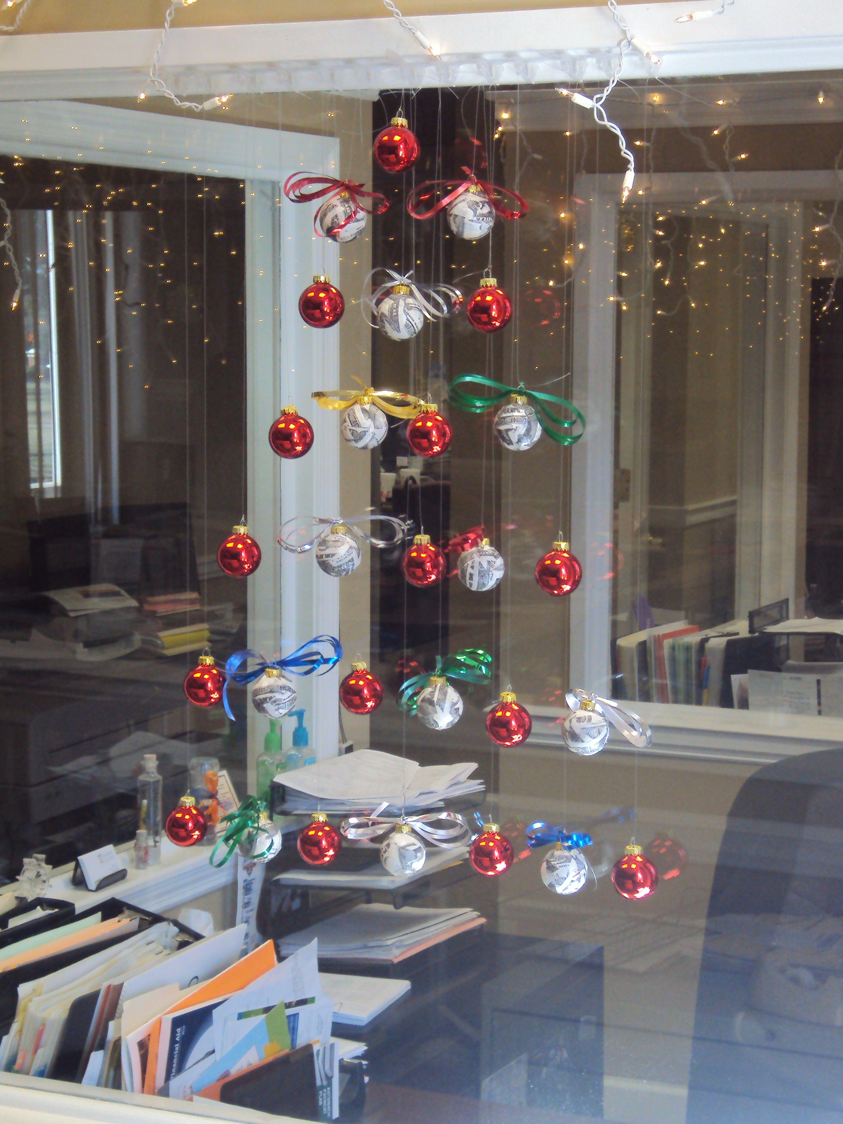 Hanging Christmas Tree Made Of Balls