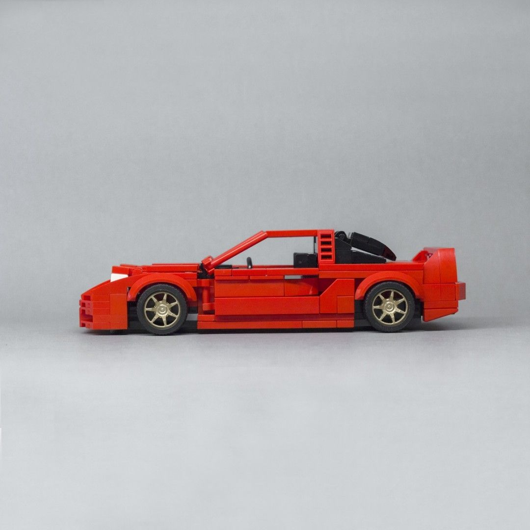 Lego Honda Acura NSX Mk1 Brick Build Stock Red 1:24 Scale