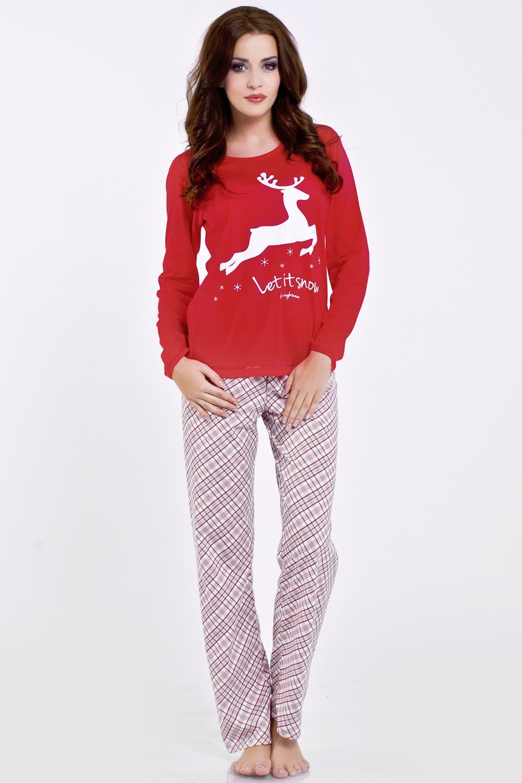 f99d0d6934716f Piękna świąteczna piżama. Marki Dobranocka PM.6081 || kontri.pl #piżama  #dobranocka #kobieta #prezent #pomysł