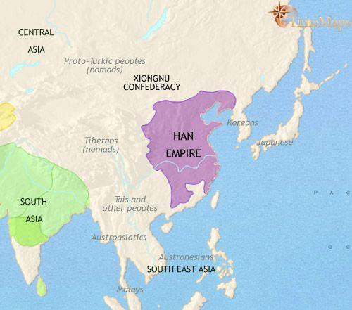 history map of East Asia China Korea Japan 200BC   YEAR