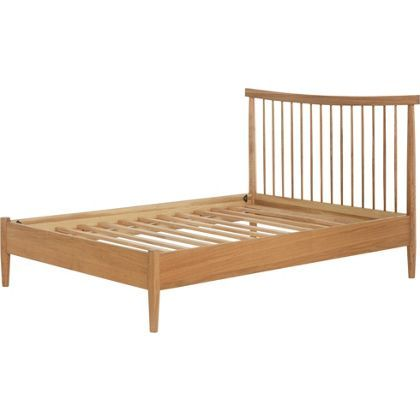 Heart Of House Dorset Spindle Double Bed Frame Oak Spindle