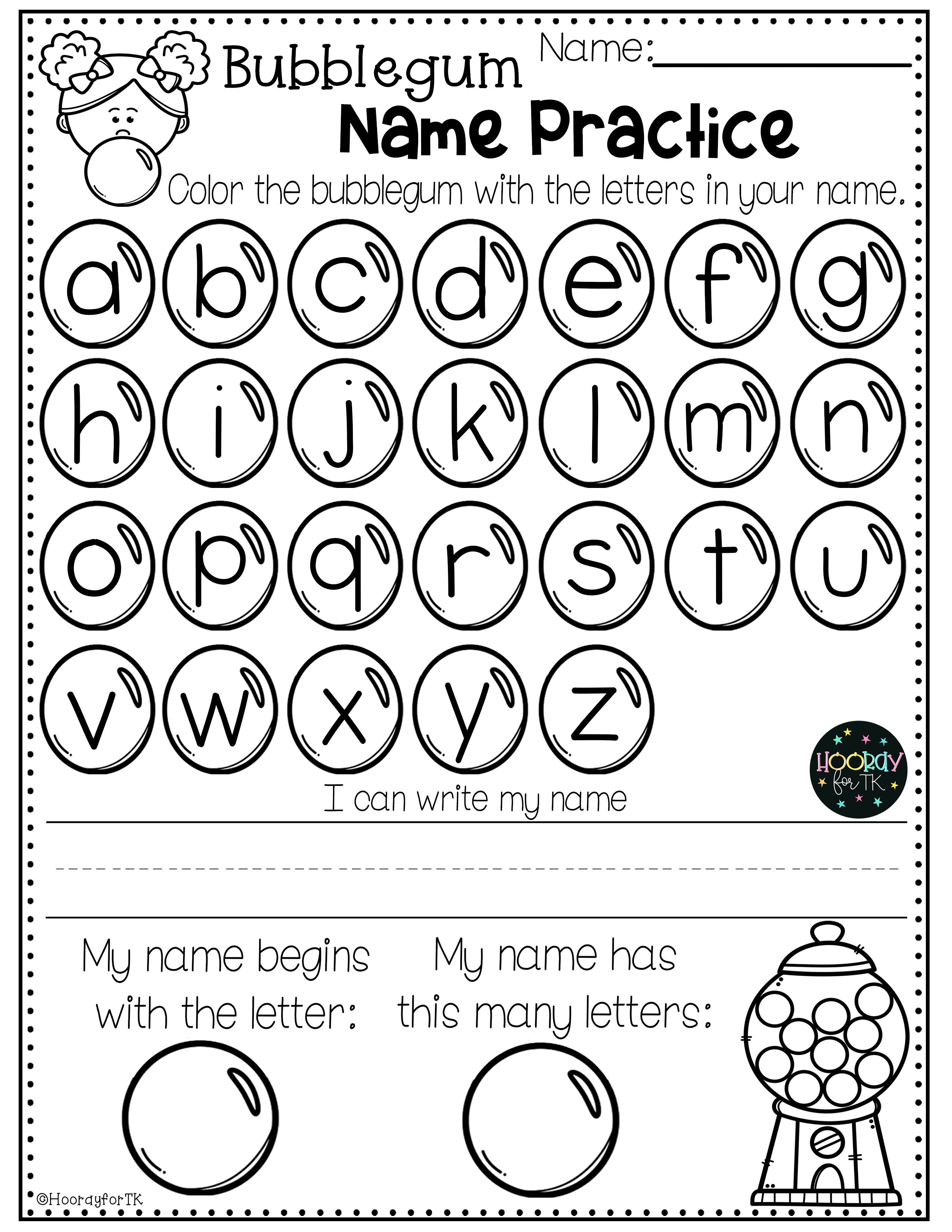 Back To School Worksheets Pre K And Tk In