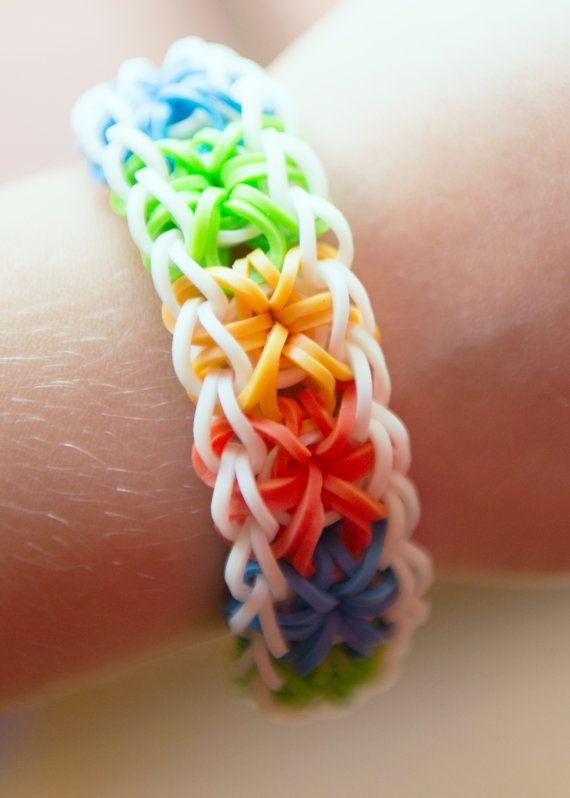 Ryder and I started making basic bracelets tonight Rainbow Loom Rubberband Rubber Band