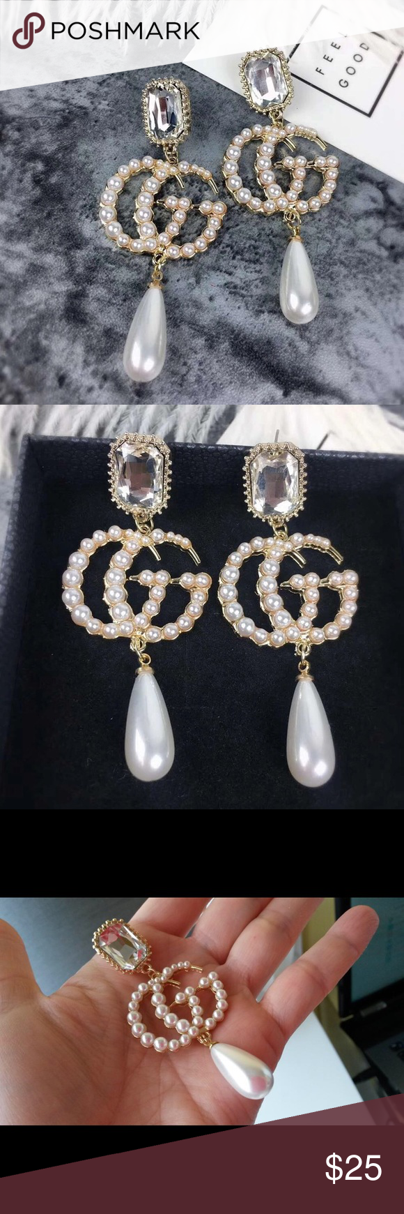 193ec6967 GG Drop Earrings New! Great designer inspired earrings ❤ Gucci Jewelry  Earrings