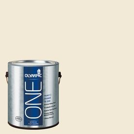 For Kitchen Cabinets Lowes 25 Gallon Olympic One 124 Fl Oz Interior Flat Enamel Satin Weave Latex Base Paint And Primer In