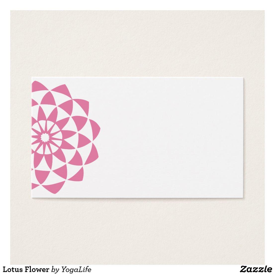 Lotus Flower Business Card | Yoga Life Style! | Pinterest | Yoga