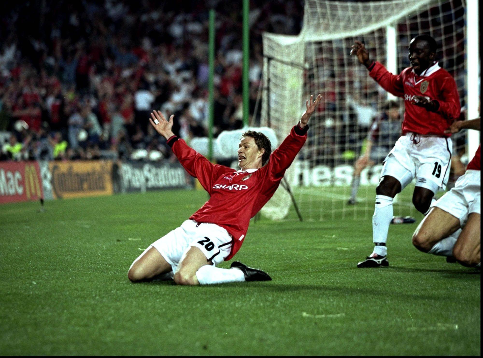 Solskjaer Vs Bayern Munich 1999 Ucl Final Manchester United Manchester United Team Manchester United Football Club