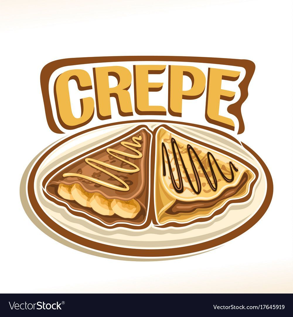 Logo for french crepe Royalty Free Vector Image (avec