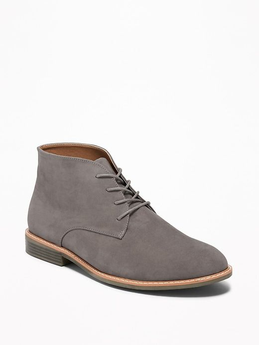 Mens Classic Suede Leather Lined Desert Boots 2 Eye Lace up Smart Retro Shoes