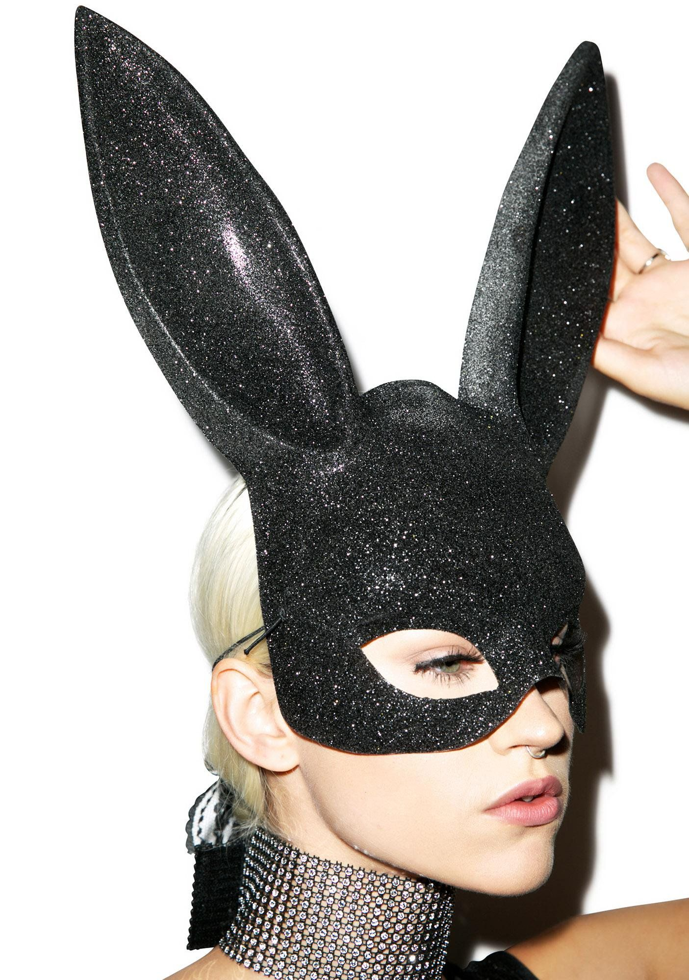 Glitter Gettin' Busy Bunny Mask (With images) Bunny mask