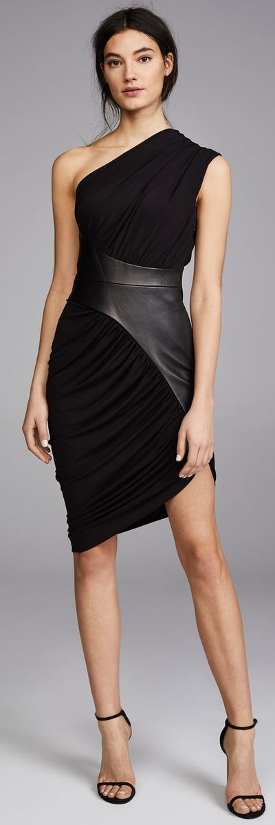 Black Chiffon Short Party Dress,One Shoulder Sleeveless Homecoming Dress #shortblackhomecomingdresses