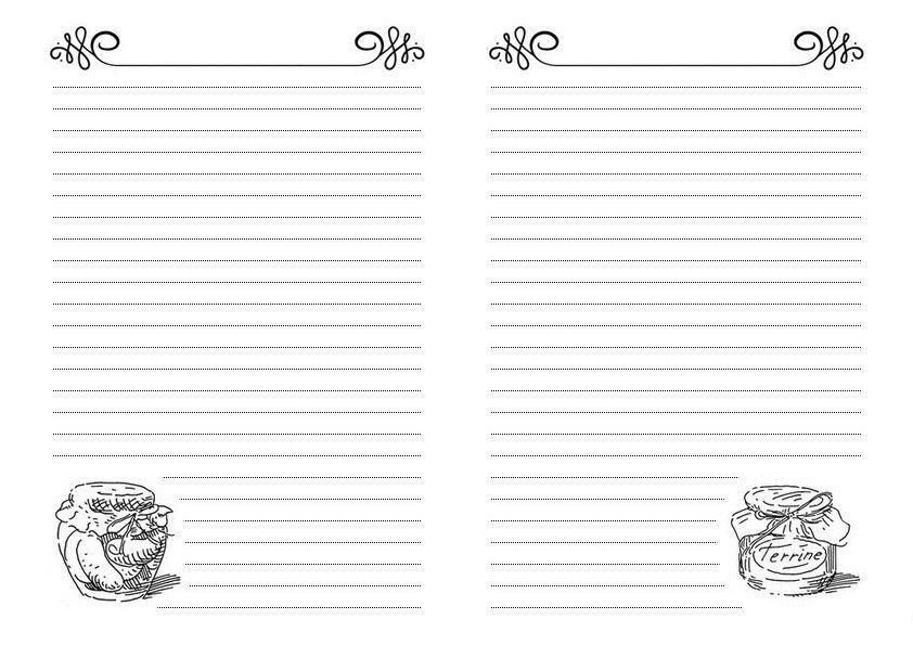 картинки для кулинарной книги черно белые для некотором смысле