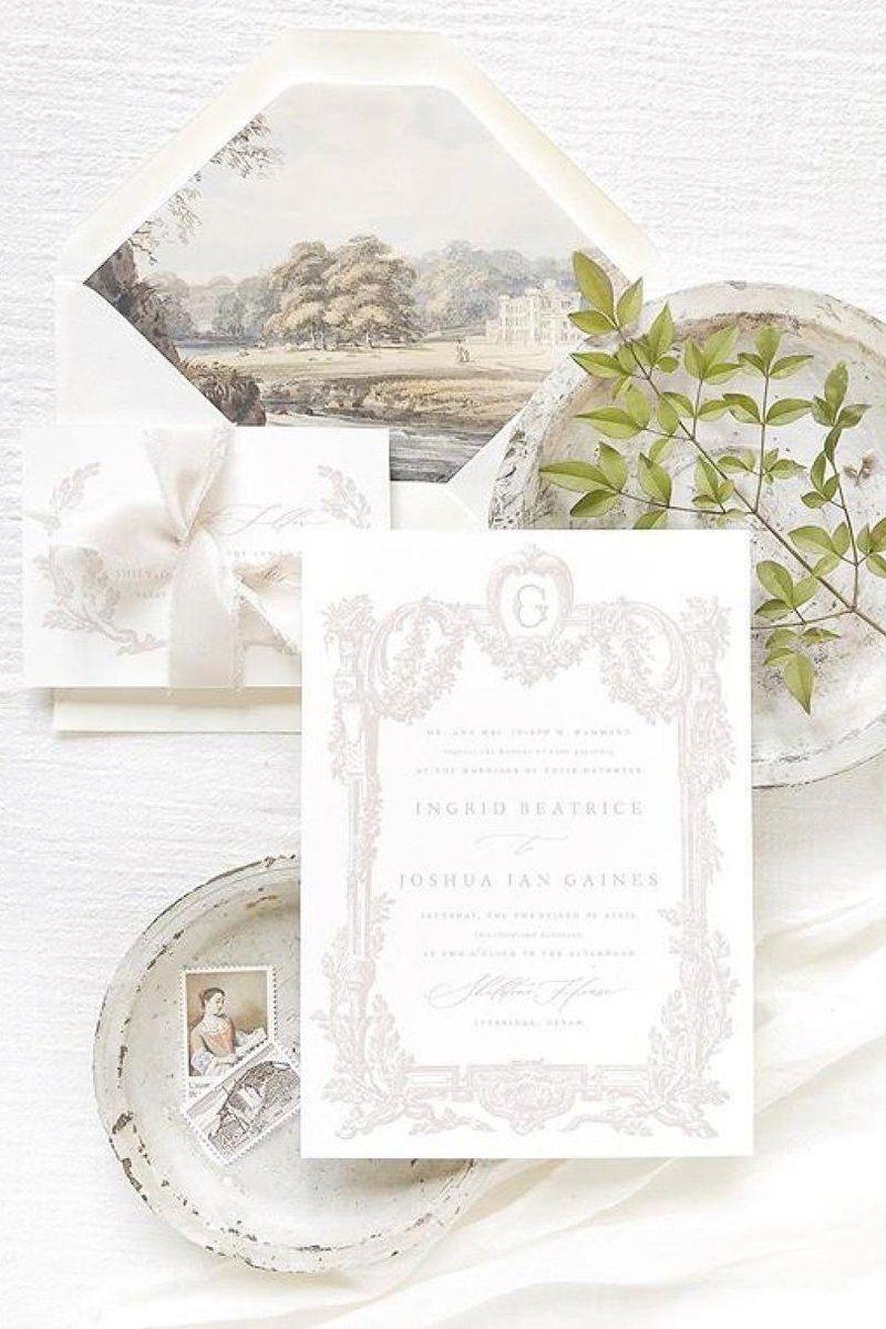 The Secret To Making Wedding Invitations Feel Personal Making Wedding Invitations Classic Wedding Invitations Illustrated Wedding Invitations