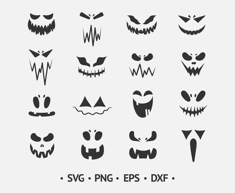Pumpkin Face Svg Halloween Faces Svg Pumpkin Clipart