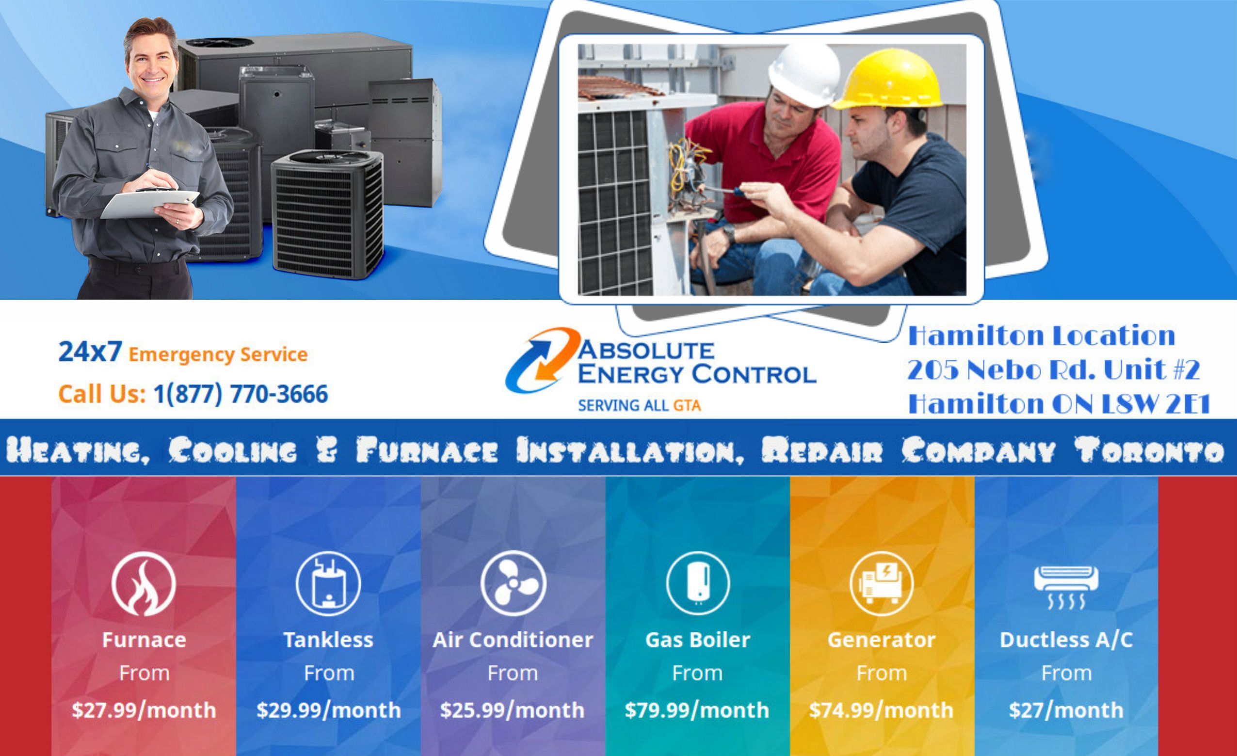 At Absolute Energy Control Inc We Provide A Full Range Of Heating And Cooling Hvac Repair With Images Air Conditioning Installation Hvac Repair Mississauga